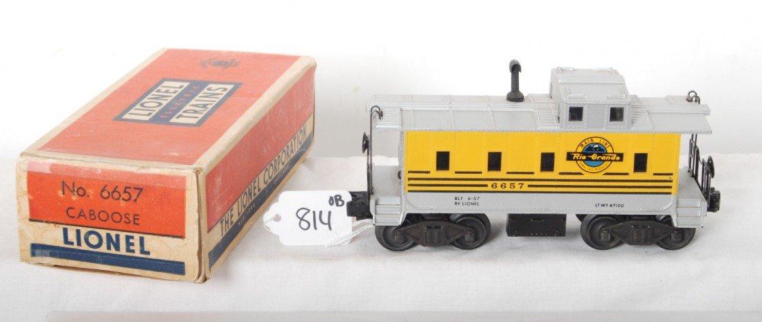 814: Lionel No. 6657 Rio Grande caboose in OB