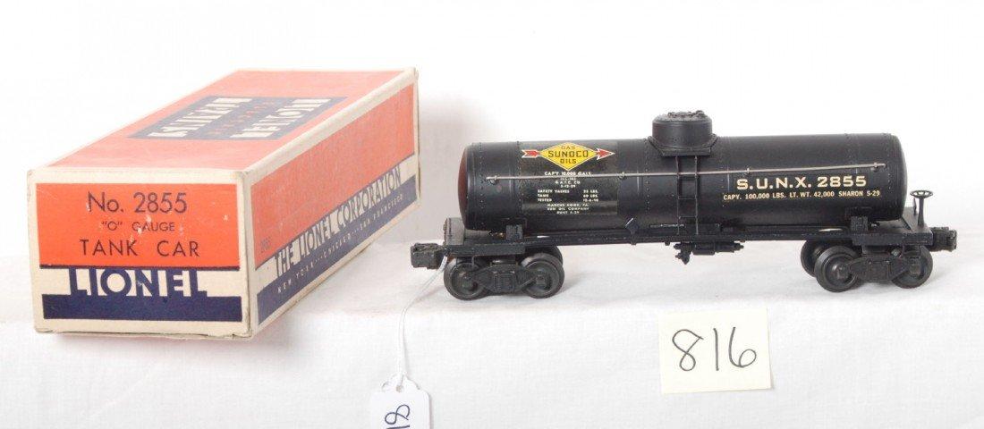 816: Lionel 2855 Sunoco tank car in OB w/insert