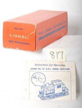817: Lionel No. 57 A.E.C. switcher OB w/instructions sh