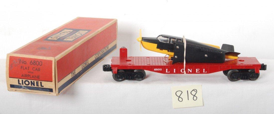 818: Lionel No. 6800 flatcar w/airplane in OB