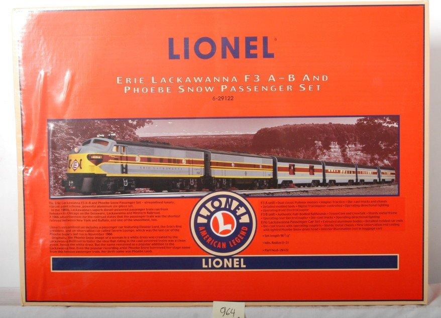 964: Lionel 29122 Erie Lackawanna Phoebe Snow set