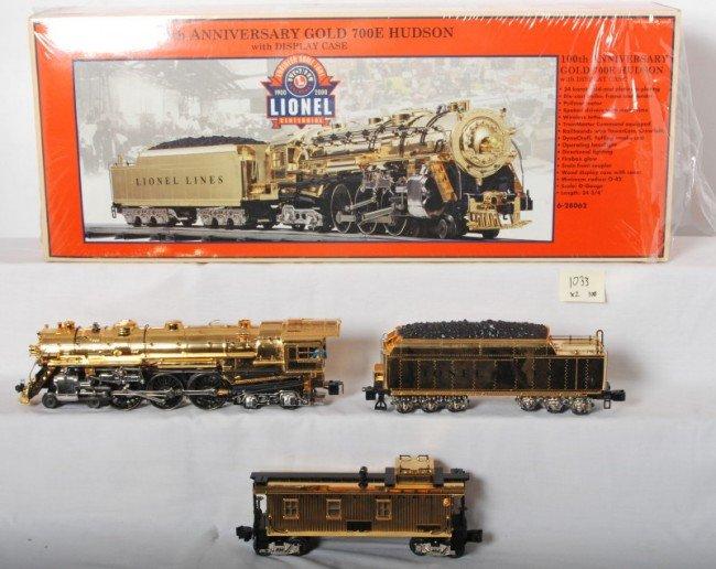 1033: Lionel 28062 100th Ann. Gold Plated 700E Hudson a