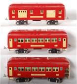 1208 Lionel restored 323 324 325 passenger cars