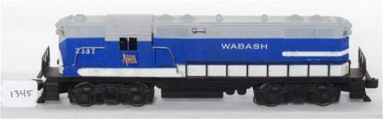 1345 Lionel 2337 Wabash GP7 diesel locomotive