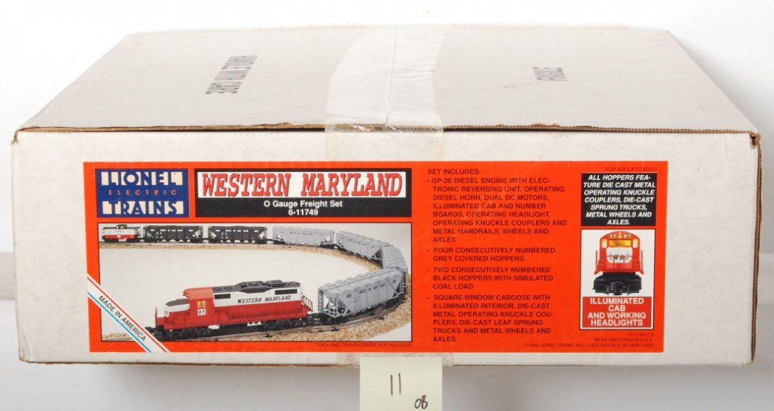 11: Lionel 11749 Western Maryland Freight Set