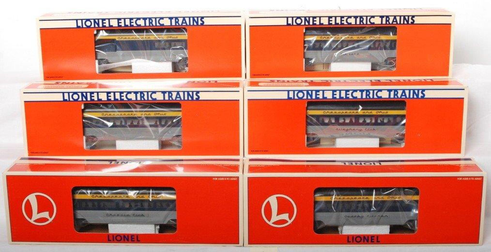 74: 6 Lionel C&O aluminum pass cars 19150, 19164, etc.