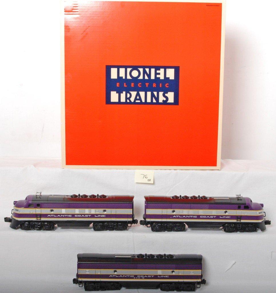 76: Lionel 11903 Atlantic Coast Line F3 A-B-A diesels