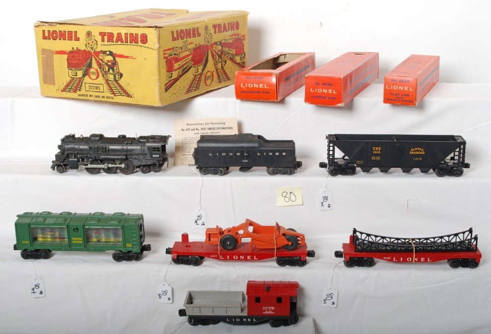 80: Boxed Lionel 2531 WS loco w/smoke and whistle set
