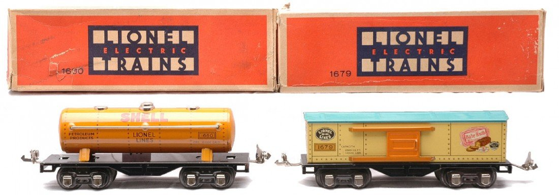 3: Lionel Litho Freights 1679 Baby Ruth 1680 Shell