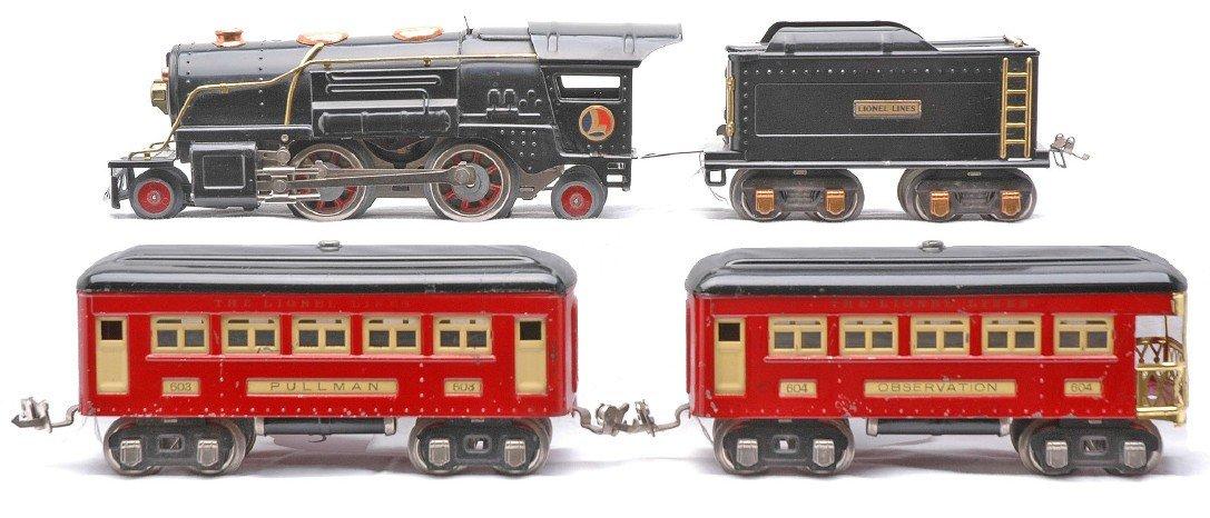 5: Lionel Red Passenger Set  259E 262T 603 604