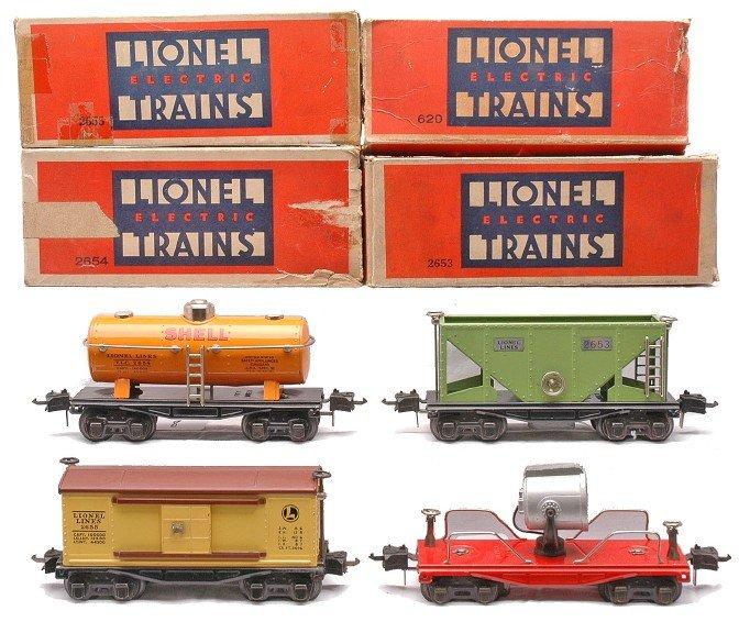 8: Lionel 2620 Searchlight 2653  2654 2655 Boxed