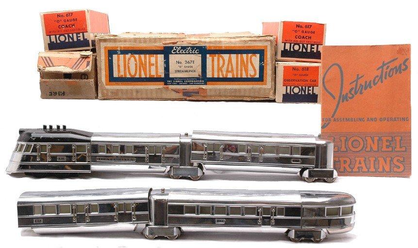 10: Lionel Flying Yankee Chrome Streamlined Set 267E