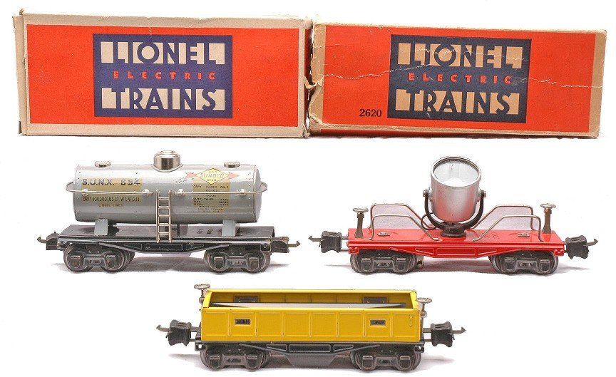 11: Lionel Freight Cars 654  2620 OBs 3652