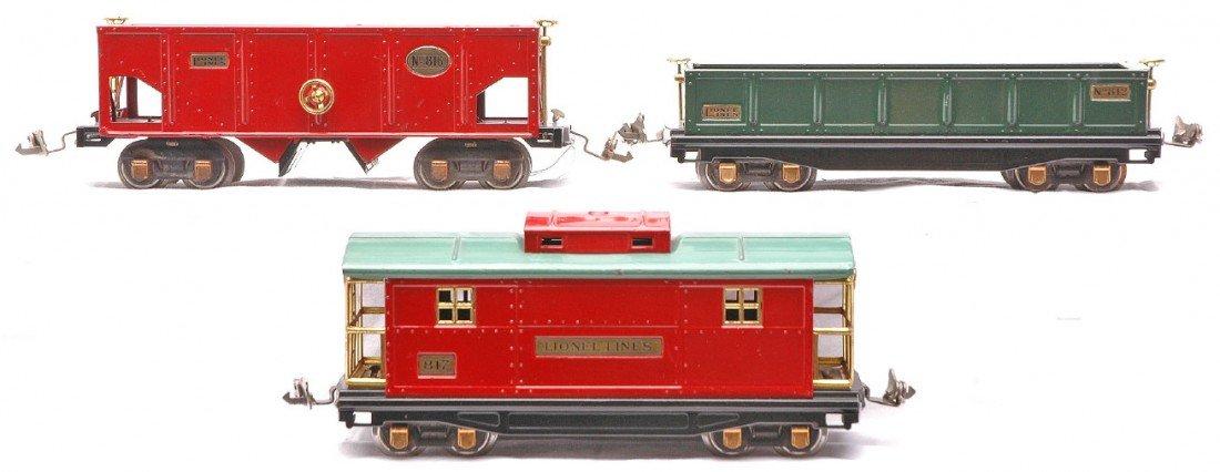 17: Lionel Prewar Freight Cars 812 816 817