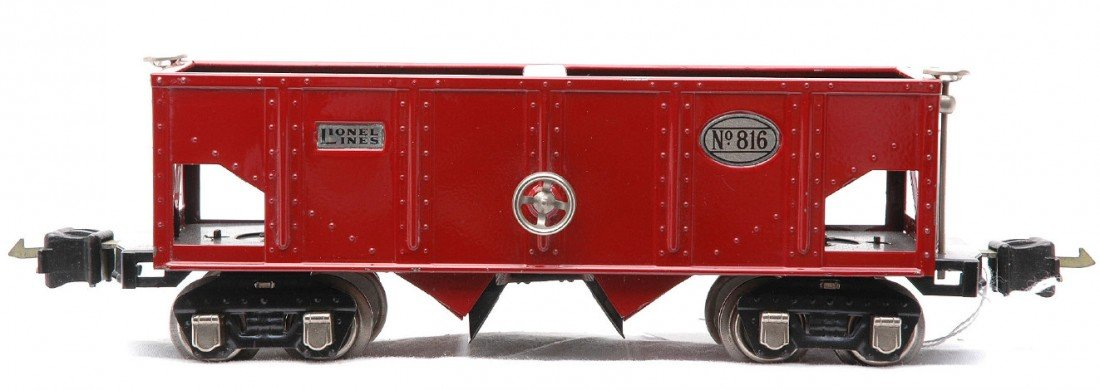 19: Lionel Prewar 816 Red Hopper w/Nickel Trim
