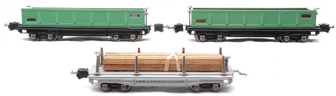 20: Lionel Freight Cars 812 811 w/Nickel 812 Brass