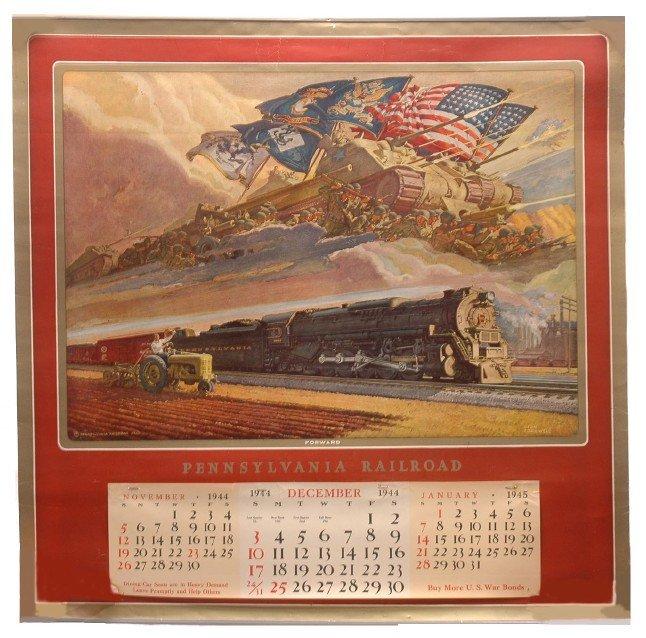 383: Pennsy RR 1944 Calendar Art by Dean Cornwell