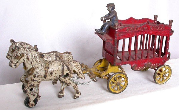 24: Unmarked Horse Drawn Overland Circus Wagon