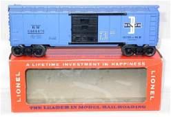 606: Lionel purple painted 6464-475 BM boxcar, OB