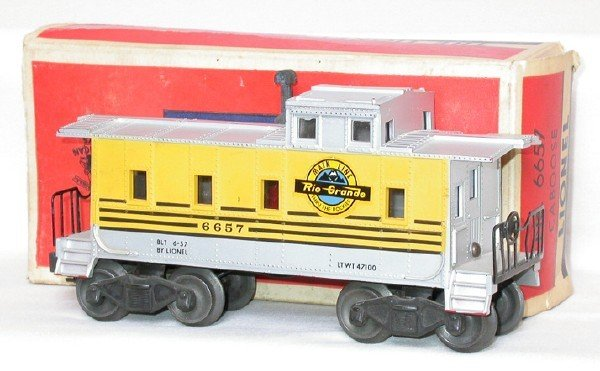 610: Lionel red mold, no ladder slot 6657 RG in OB