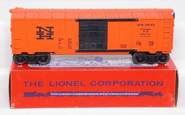 621: Unrun Lionel 6464-725 New Haven boxcar in OB
