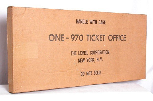 1024: Factory sealed Lionel 970 ticket office, OB