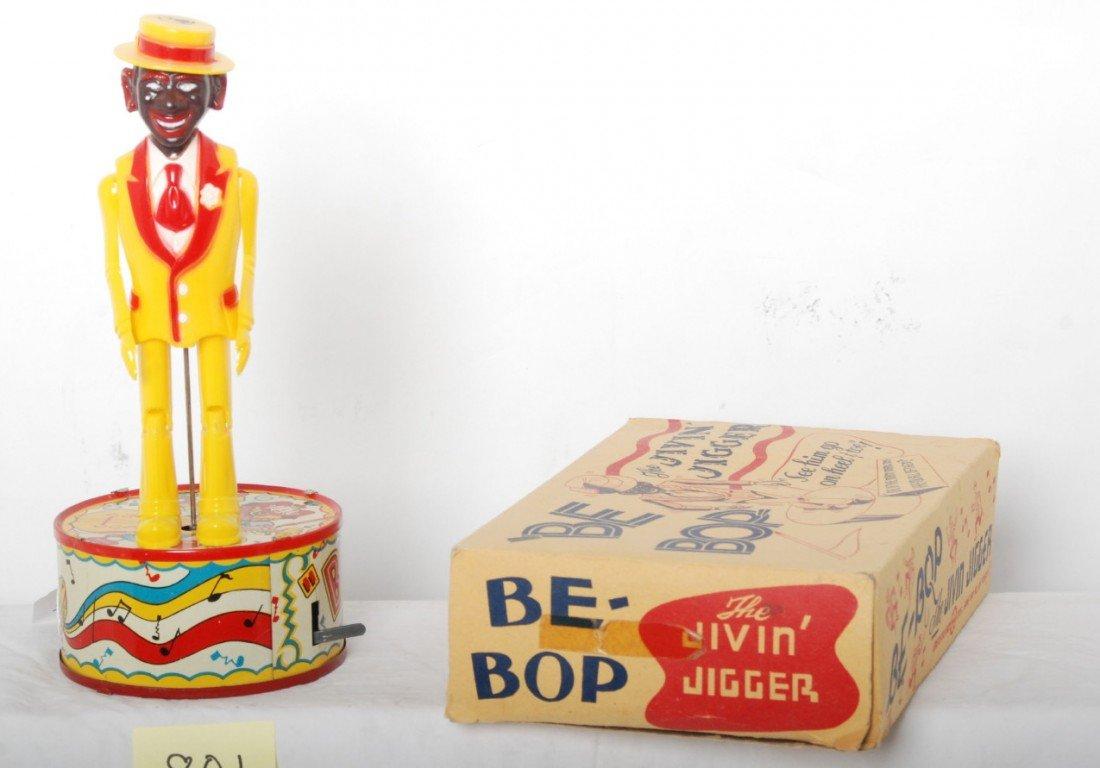 801: Marx Be-Bop The Jivin Jigger in OB, mechanical toy