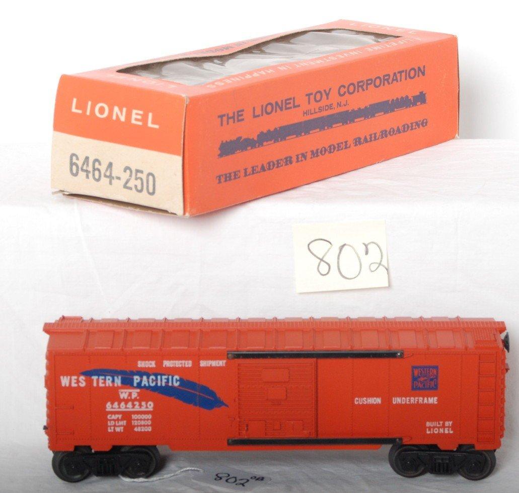 802: Lionel 6464-250 Western Pacific boxcar in OB