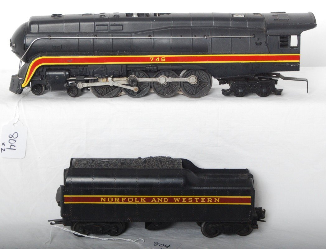 804: Lionel 746 Norfolk and Western J and 746W long str