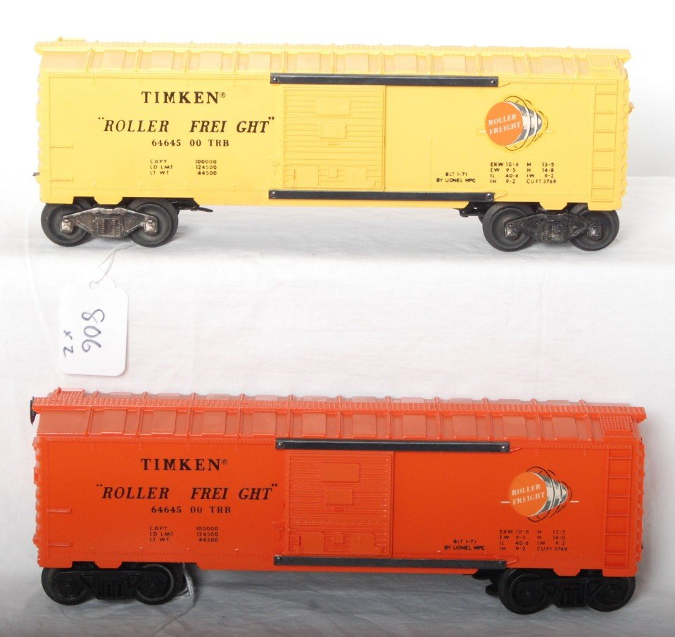 806: Lionel 6464-500 Timken, yellow and orange variatio