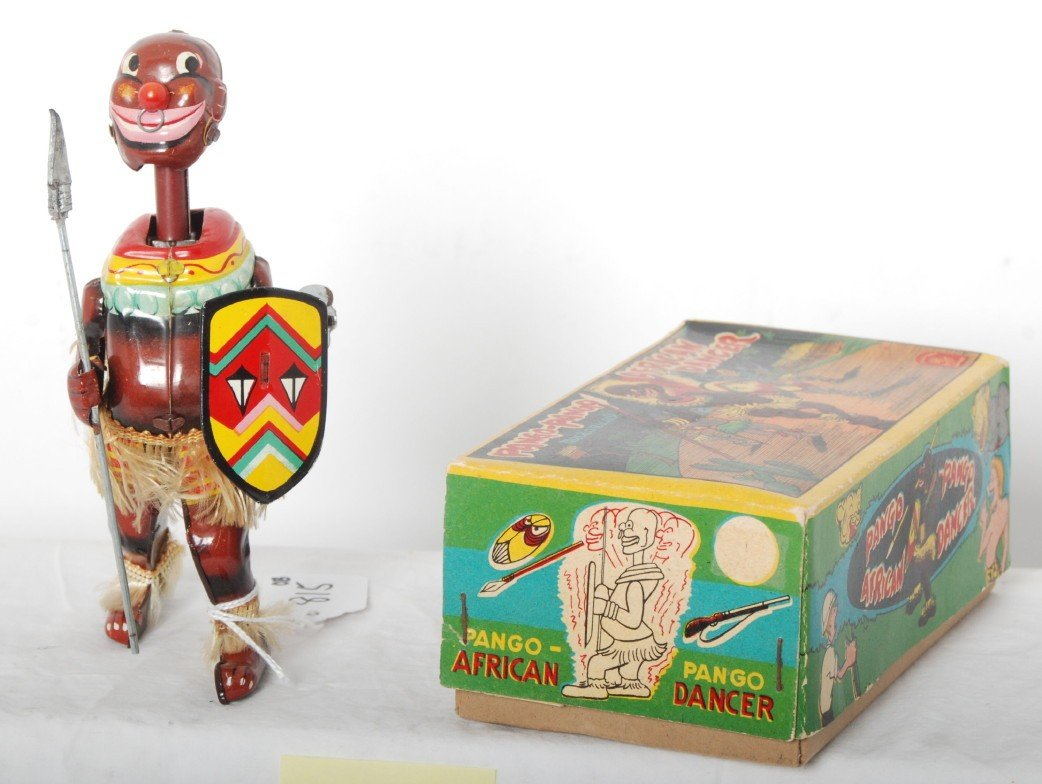 815: Pango-Pango mechanical African Dancer toy in OB