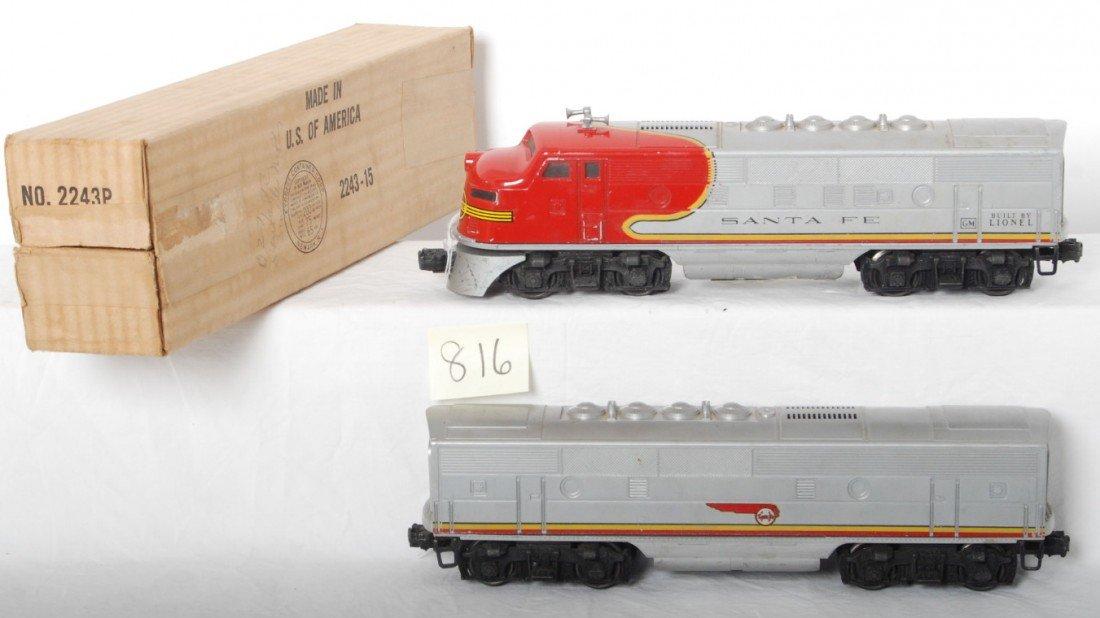 816: Lionel 2243P in OB and S.F. B unit