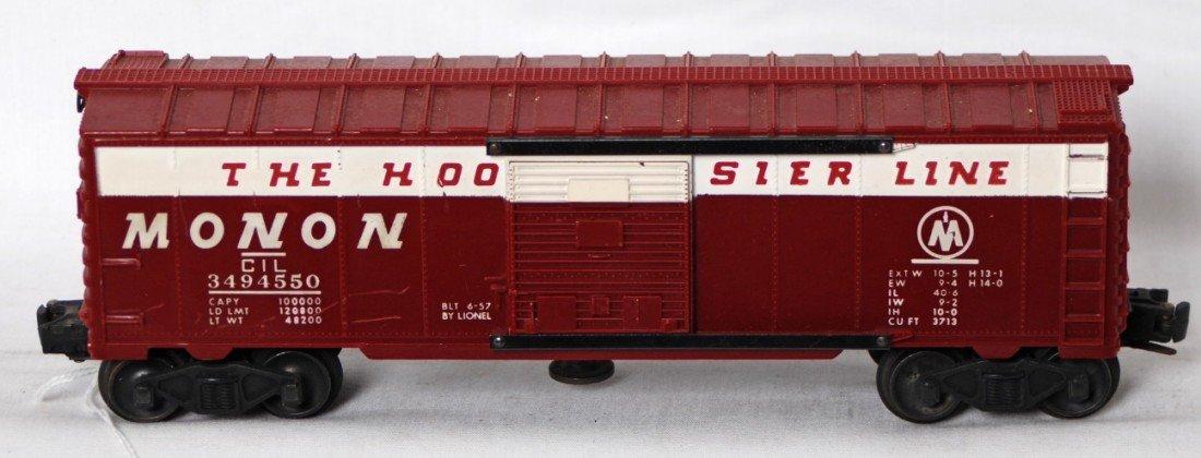 873: Lionel 3494-550 Monon operating boxcar