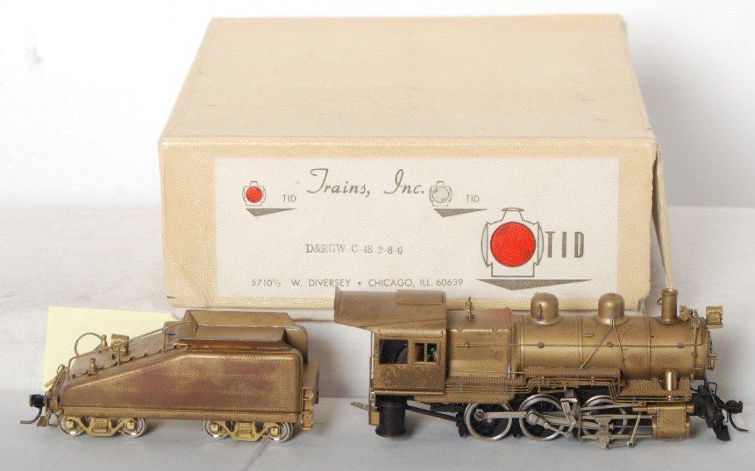 876: TID Trains Inc. D&RGW C-48 2-8-0 steam loco in OB