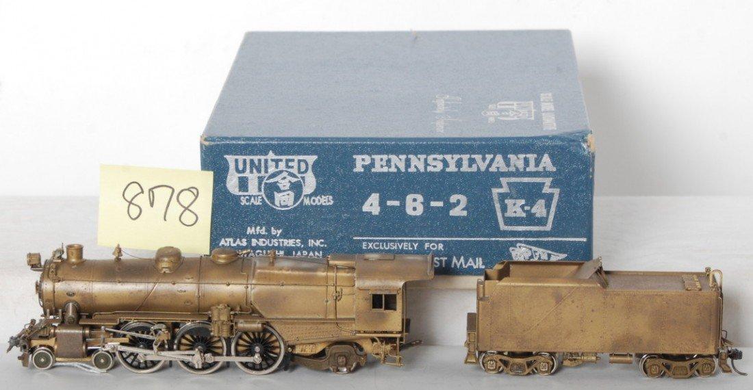 878: United Scale Models brass PRR 4-6-2 K-4 PFE  in OB