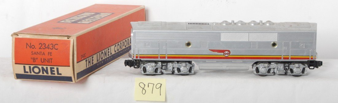 879: Lionel 2343C Santa Fe F3b in OB w/insert