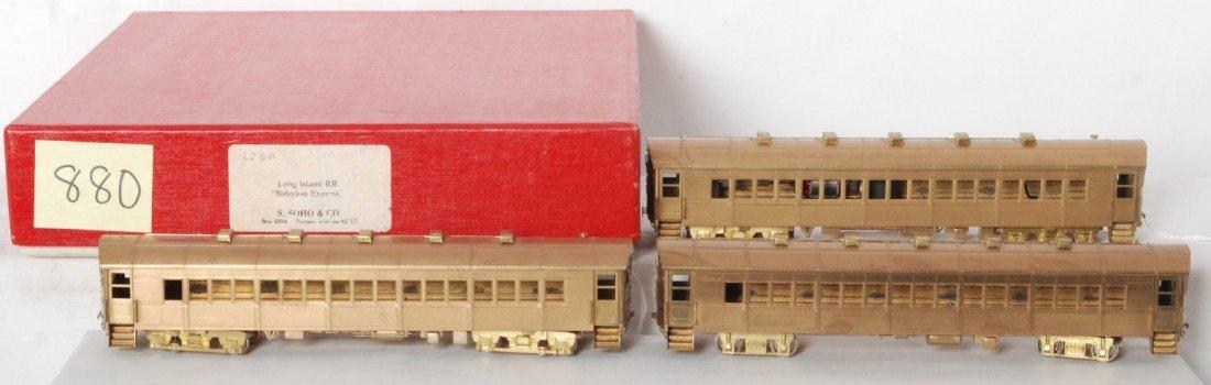 880: S. Soho & Co. brass HO Long Island Babylon Express