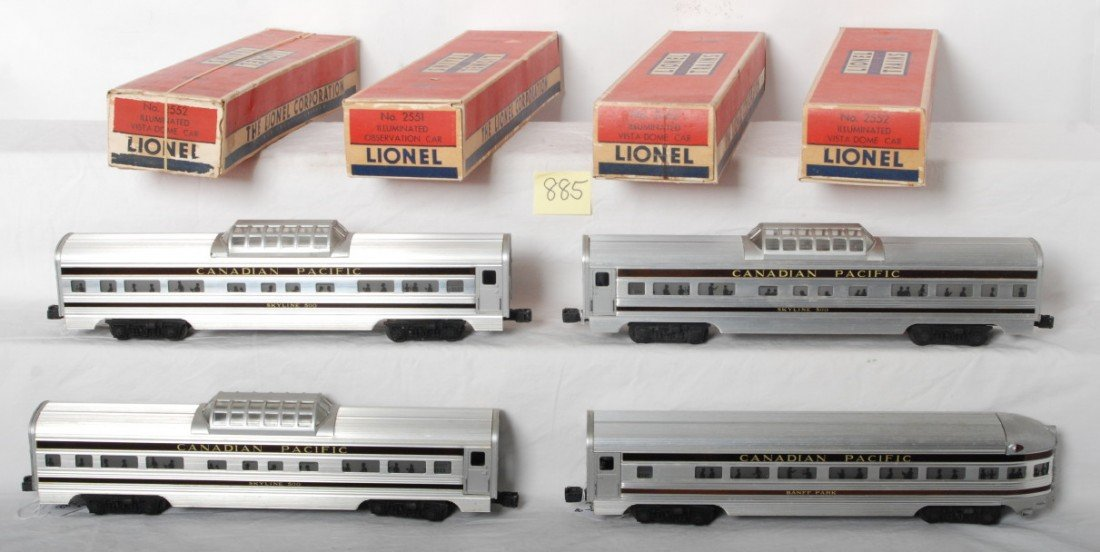 885: Lionel 2551, 2552, 2552, 2552 Canadian Pacific in