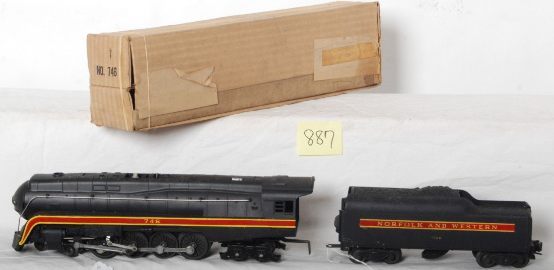 887: Lionel 746 Norfolk and Western J class loco and te