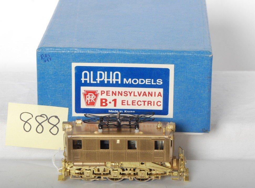 888: Alpha Model brass HO Pennsylvania B-1 electric in