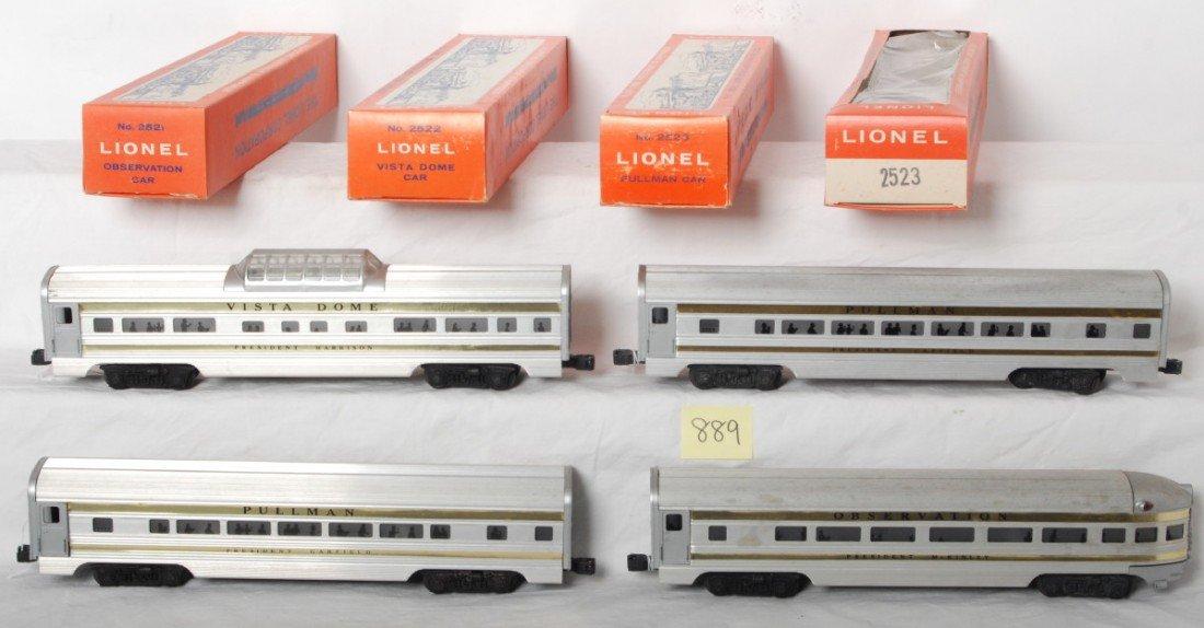 889: Lionel Presidential passenger cars in Great origin