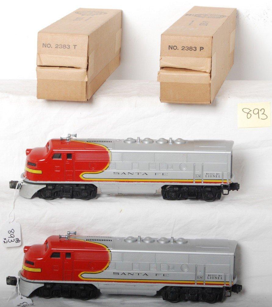 893: Lionel 2383 Santa Fe F3a diesel locomotives