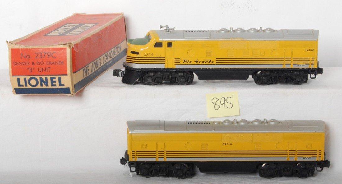 895: Lionel 2379 Denver and Rio Grande F3 A-B locos