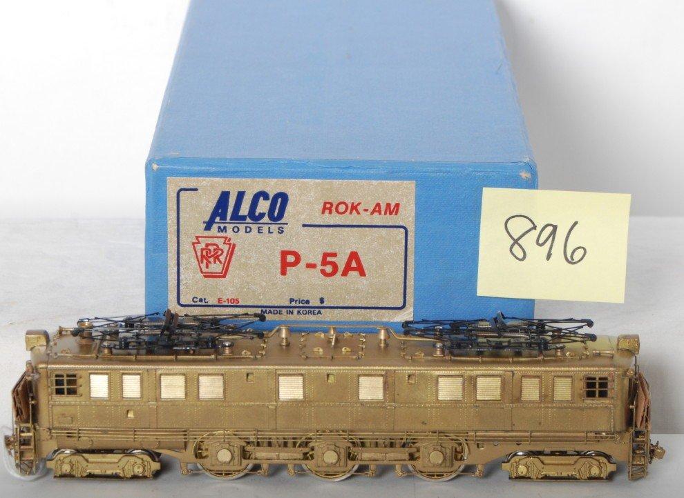 896: Alco Models Rok-Am E-105 PRR P-5A brass HO in OB
