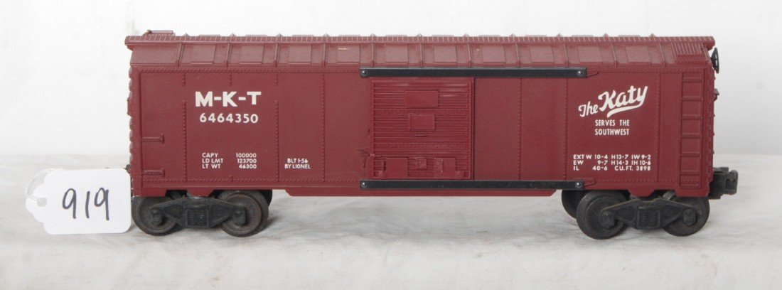 919: Lionel 6464-350 MKT The Katy boxcar