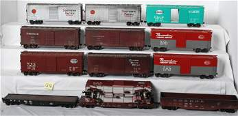 1346 13 G scale  one gauge freight cars NYC PRR etc