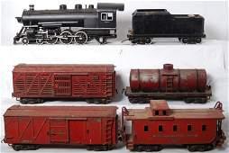 1431 Buddy L Outdoor Railroad loco tender four freig