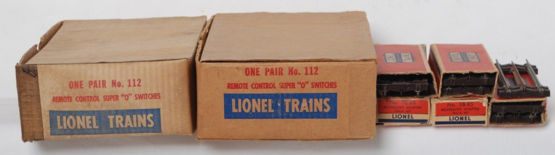 2: Lionel 112 Super O R.C. switches, 38-85 adapters in