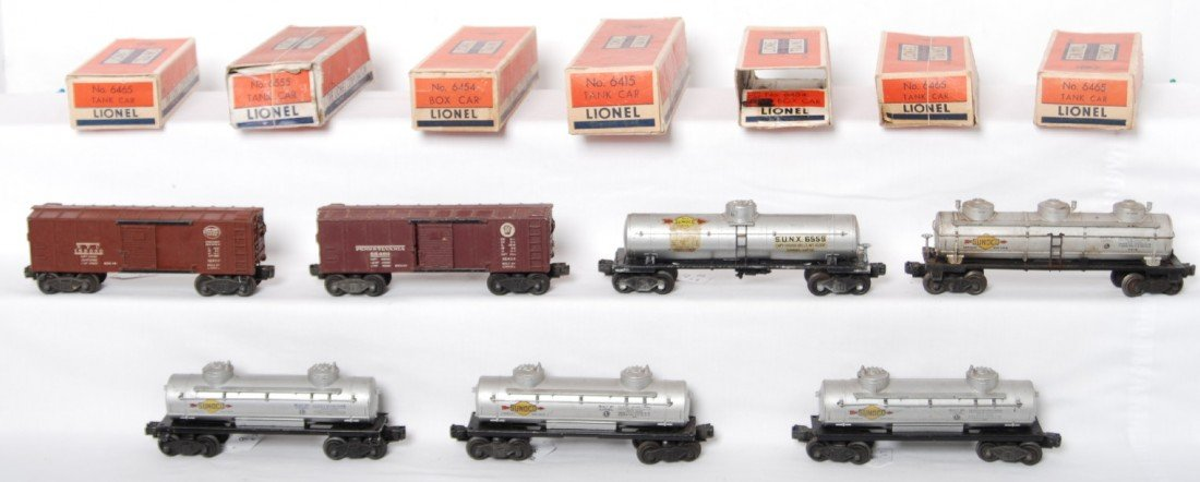 9: Lionel 6555, 6415, 6454, 6454, 6465, 6465, 6465 in O