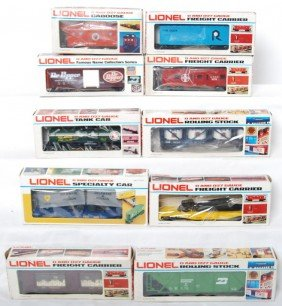 10 Lionel Freight Cars 7811, 6304, 9106, 7903, 9349